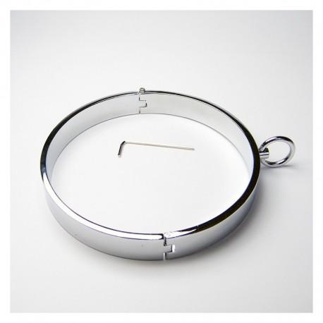 Collier acier 13cm avec anneau